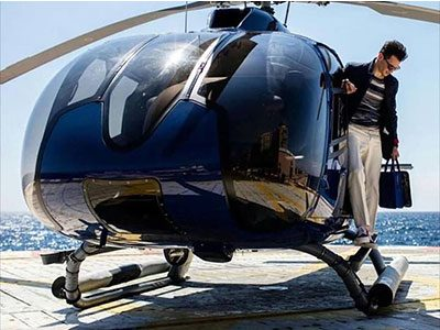 Helicopter transfer Corfu